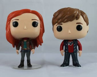 Custom Funko Pop! of Doctor Who's Amy Pond and Rory Williams