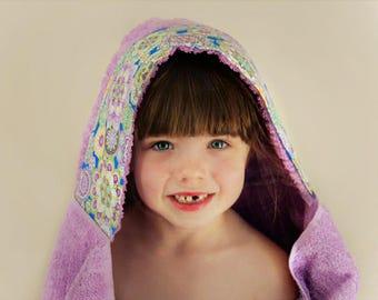 Spa Gift for Girls - Girls Hooded Towel - Summer Gift for Girl - Hooded Towel - Gift for Daughter - Girls Towel Hoodie - Girls Beach Towel