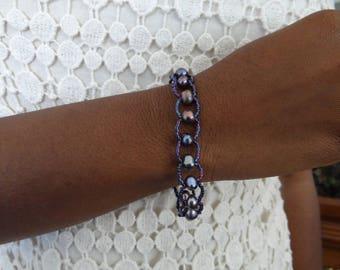 Purple Fresh Water Pearl Bracelet