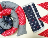Baby gift set, Baby Room Decor, Bumper Bed Pillow, new born bedding, Snake Pillow, New Born Gift, Crib Bumper, Baby Bumper, Baby Shower Gift