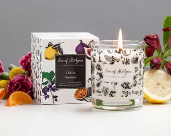Scented candle - summer candle - birthday gift - soy candle - summer fragrance - natural candles, jasmine fragrance - fig fragrance