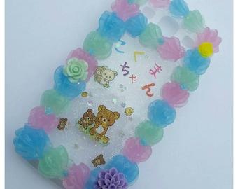Cute Kawaii Bear Koguma Chan Pastels Galaxy S3 Decoden Case