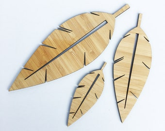 Bamboo Leaves  (set of 3)