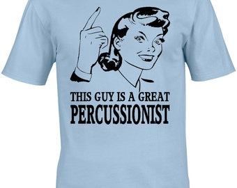Percussionist Mens T-Shirt - Gift Occupation Music Musician Drum Percussion Rock Metal Orchestra Jazz Drummer