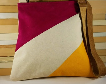 CLEARANCE SALE! Handcrafted Hand Painted Geometric Pattern Shoulder Bag Purse