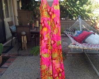 Vintage Hawaiian Floral dress