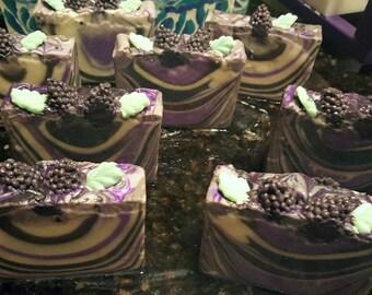 Black Raspberry Vanilla Home Made Artisan Soap Bar / Cold Process Soap / Silk Soap / Black Raspberry Vanilla Soap