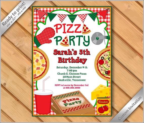 personalized invitation pizza party invitation pizza birthday