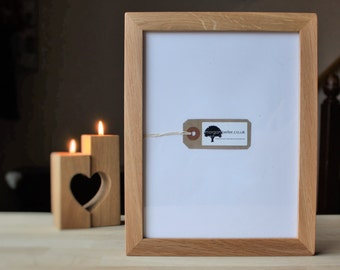 Wood picture frames - Oak wooden picture frames in 7x9 8x10 A4 morganpeterframe