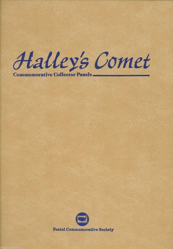 1986 Halley's Comet Commerative Collector Panels Booklet. Different Countries of the World