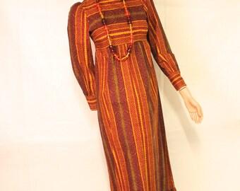 Marimekko Maija Isola vintage 70's professionally made maxi festival dress small