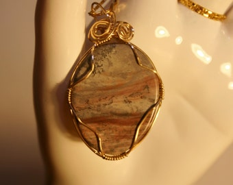 Beautiful Agate with Moss Pendant