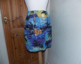 cute hawaiian tropical handmade skirt aloha one size
