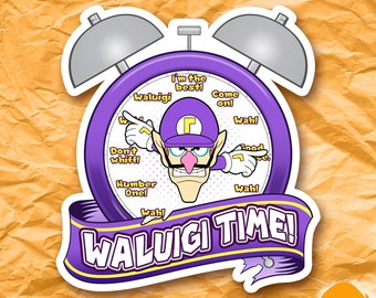 Waluigi Time Sticker