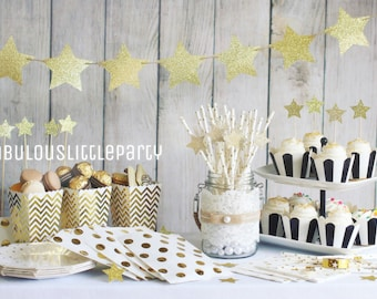 Party Decoration Kit, Twinkle Twinkle Little Star, First Birthday Decorations, Boy Girl Baby Shower, Gold All Star Graduation, Galaxy, Moon