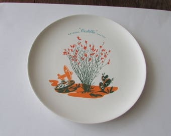 "Vintage Blakely Ocotillo Cactus Arizona 10"" Dinner Plate Dinnerware"