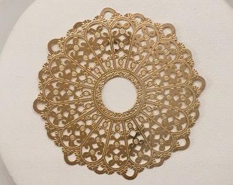Gold filled Mandala   Large Mandala pendant