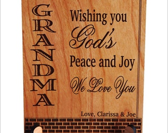 Personalized Grandma Gift, Gift to Grandma, Grandmother Keepsake Plaque, Granny Gift, Grammy Gift, Grandma Birthday Gift, Nana Gift, PGM017