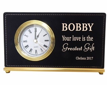 Fiancee Custom Girlfriend Desk Clock Gift, Engagement Gift, Valentine Long Distance Love Relationships Gift, Personalized Birthday Gift.