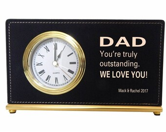 Gift to my Awesome Dad, Custom Desk Clock, Father's Day Gift, Gift for My Dad, Gift for Daddy, Gift for Papa, Birthday Gift for Dad, LCD067