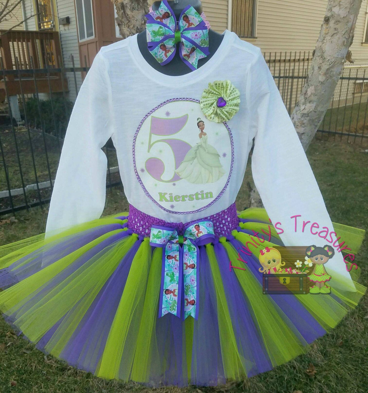 Princess Tiana Outfit: Princess Tiana Tutu Princess Tiana Birthday Outfit Princess