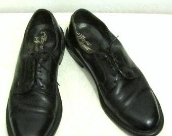 25% 0FF SalE!!Men's M0D Vintage 50's,Black Leather MAD MEN era Shoes by C0BOURNE SQUARE.9.5B