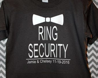Ring Security Boys Shirt, Ring Bearer, Toddler, Youth, Personalized