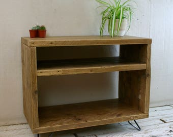 CLEAROUT SALE! Reclaimed Wood TV Stand Hairpin Leg. Was 200 now 170