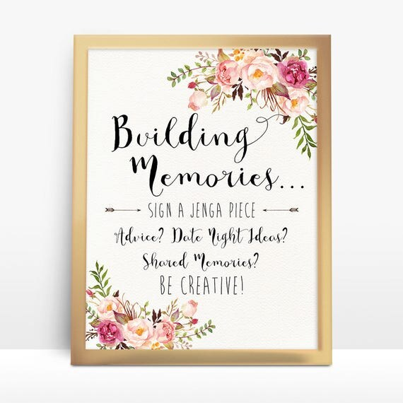 Wedding Photo Guestbook: Jenga Guest Book Sign Wedding Jenga Jenga Sign Jenga Guest