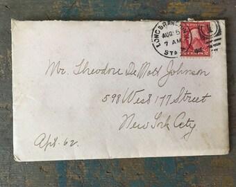 Antique Love Letter Ephemera, Antique Letter Decor and Paper Good, Scrapbook Collectible Ephemera, Pink Love Letter