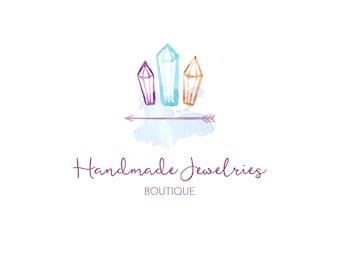 Boho Premade Logo, Boho Logo, Premade Logo, Jewelry Logo, Logo Design, Jewelry Shop Logo, Business Logo, Boutique Logo, Shop Logo
