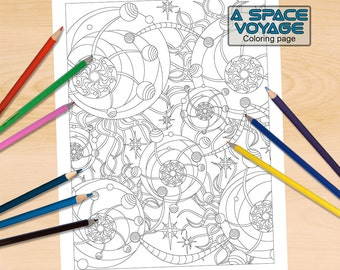 Galactic Map Coloring Page