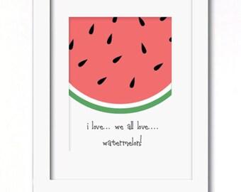 Watermelon print | Etsy