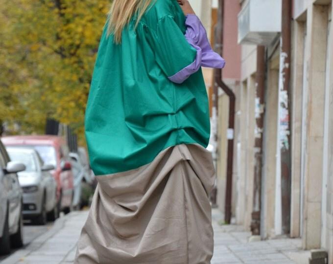 Maxi Extravagant Cotton Dress, Asymmetrical Casual Long Dress, Free Style Dress, Oversize Dress By SSDfashion