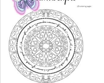 Mindscapes Adult Coloring Book, Mandalas, printable, Relax, Relieve Anxiety, Creative, Unwind, DeStress
