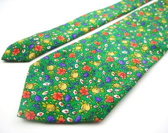 Floral tie vintage necktie mens accessories