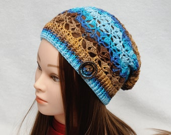 Slouchy hat Boho style Boho hat Slouch beanie Womens hats Summer Hat Crochet sun hat beach hat free spirit accessories Womens Gift for her