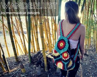 crochet backpack purse pattern -wanderlust