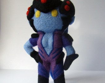 Overwatch - Widowmaker - Plush doll - needle felted - gift for boyfriend - gift for girlfriend - gamers - geek - videogame