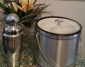 Elegance by Kraftware Ice Bucket with Lucite Lid