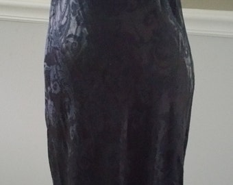 ZUM ZUM velvet and Brocade Maxi Dress