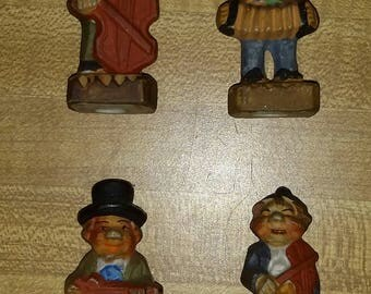 Set of 4 1950s Ceramic Musicians (Made in Japan)