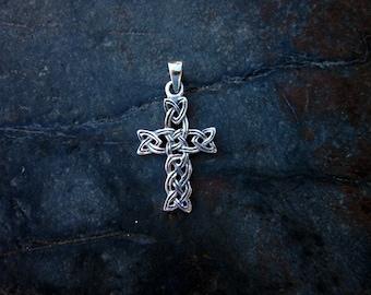 Sterling Silver Celtic Cross Pendant - #371