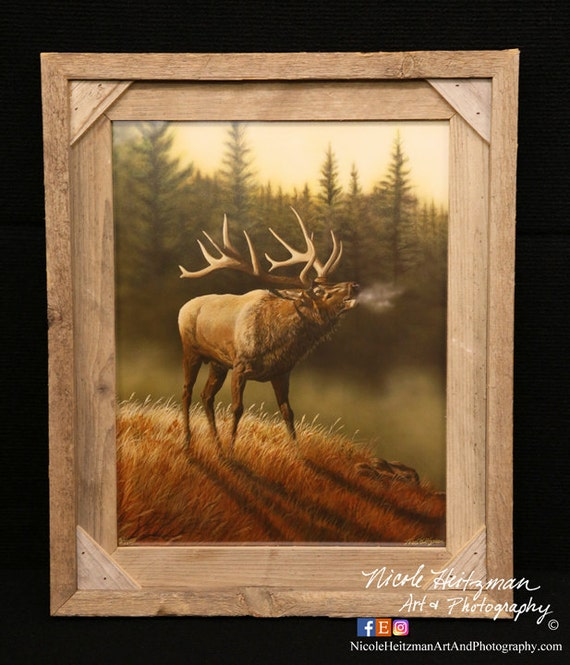 Elk Painting Father S Day Gift For Men Elk Print Hunting