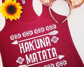 Hakuna Matata Tank -  Perfect for Disney Vacation and Animal Kingdom!!