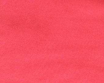 Apparel Knit Solid Fabric - Raspberry (0.8 yard remnant)