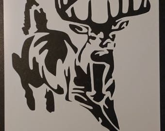 Buck White-Tailed Deer Custom Stencil FAST FREE SHIPPING