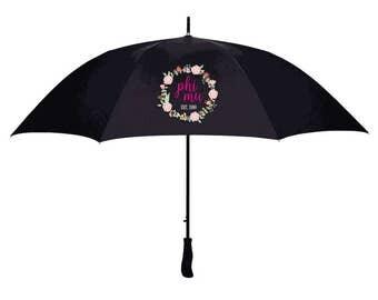 Phi Mu Floral Umbrella