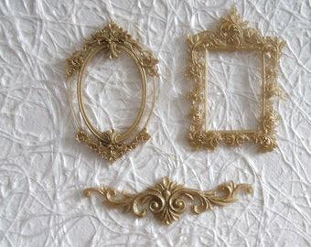 5-piece set resin dorada