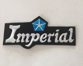 Imperial Patch Old School Iron or Sew on Patch Very Rare